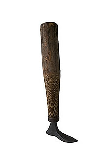 Wooden Boot Form with Iron Foot