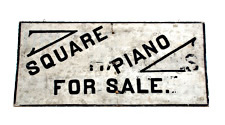 Square Piano Wood Trade Sign